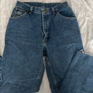 Wrangled high waisted mom style jeans